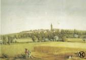 Carabanchel Alto, acuarela de Juan Miego (1818)
