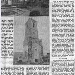 Desaparición del tempo de San Pedro de Carabanchel Alto (3 de marzo de 1975)