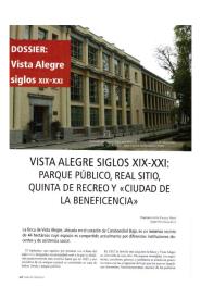 Dossier Finca de Vista Alegre (siglos XIX-XXI)