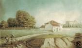 El polvorín de Carabanchel Alto acuarela de Juan Mieg (1818-1820)