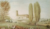 Ermita de Ntra. Sra. de la Antigua acuarela de Juan Mieg (1818-1820)