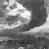 Grabado del Tornado en Carabanchel Bajo (12 de mayo de 1886)