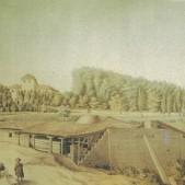 La Quinta de Miranda en Carabanchel Alto acuarela de Juan Mieg (1818-1820)