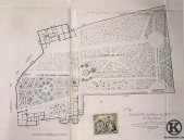 Plano de la mitad de la posesión de Santa Rita, luego colegio Santa Cruz (1888)