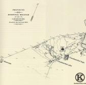 Plano de los Carabancheles a finales del siglo XIX. Proyecto del Hospital Militar