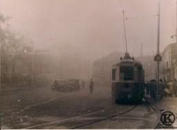 Tranvía en la Plaza de la Emperatriz (1950)