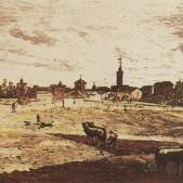 Vista de Carabanchel Alto Grabado de Casariego (1878)