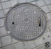 Alcantarilla junto al metro de Carabanchel