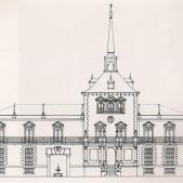 Alzado de la fachada del Palacio de Eugenia de Montijo
