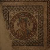 Detalle 1 Fragmento del mosáico Las Cuatro Estaciones (siglo IV, Villa romana de Carabanchel Bajo)