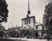 Fachada principal del Palacio Eugenia de Montijo antes de su desaparición