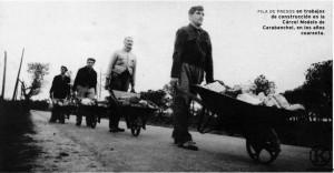 Forzados republicanos en trabajos construccion Carcel Modelo carabanchel, años 40