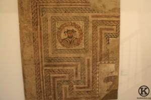 Fragmento del mosáico Las Cuatro Estaciones (siglo IV, Villa romana de Carabanchel Bajo)