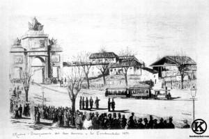 Inauguración del tranvia a los Carabancheles (1879)