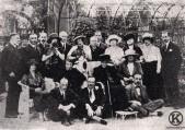 La emperatriz Eugenia de Montijo y la Duquesa de Tamames en la Quinta de Miranda (1920)