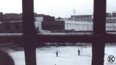 Patio de la cárcel de Carabanchel desde una celda (1975)