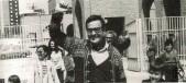 Ramón Tamames saliendo de la cárcel de Carabanchel tras la amnistía del 76 (8 de mayo de 1976)