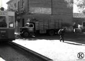 Tranvía en Avda. de Carabanchel Alto (1956, rodaje película Mi tio Jacinto)