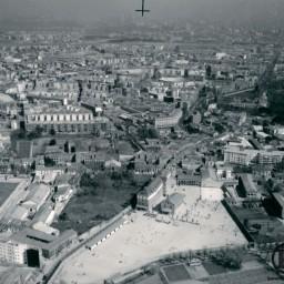 Vista aérea colegio Santa Rita y Carabanchel Bajo (1970)