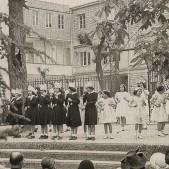 Alumnas en el colegio de las Escolapias (1944)