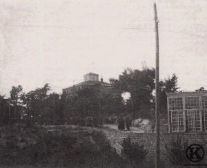 Vista del palacete de las Piqueñas, cerca del Asilo de San José