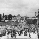 La ermita de San Isidro el día de la festividad del santo patrón de Madrid, en 1970.