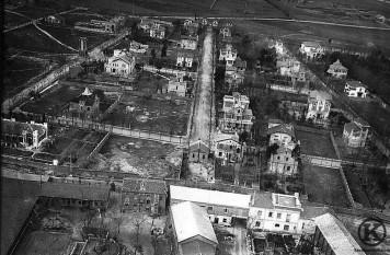 Vista aérea de la Colonia de la Prensa tras la Guerra Civil