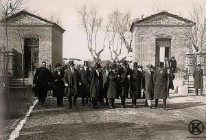Visita de Alfonso XIII a la Colonia de la Prensa (1914)