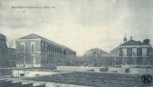 Pabellón en construcción del Hospital Militar (principios del s. XX)