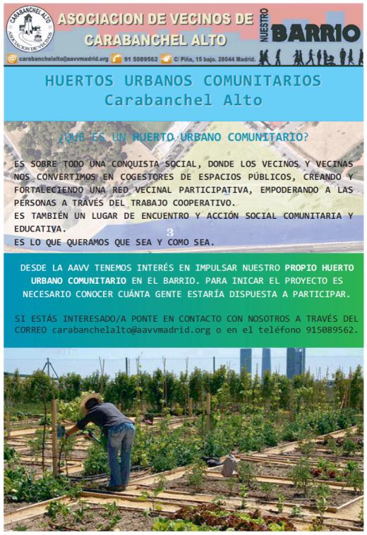 Huertos Urbanos en Carabanchel Alto