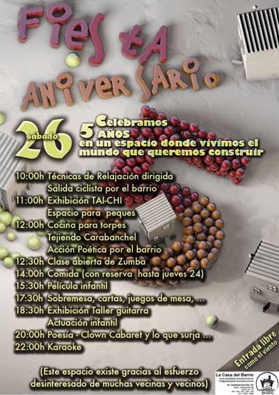 Fiesta 5º Aniversario de la Casa del Barrio 26 de abril