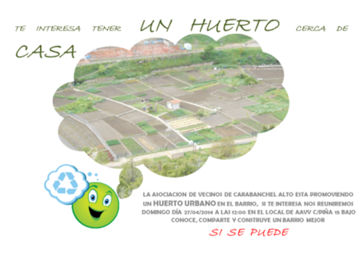 Huertos urbanos en Carabanchel