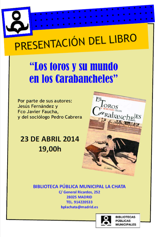 Presentación de libro Los toros y su mundo en los Carabancheles