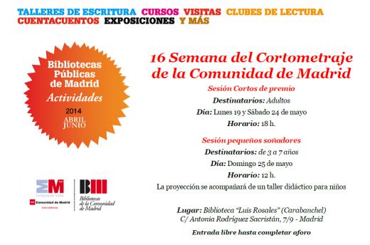 16 Semana del Cortometraje de la Comunidad de Madrid