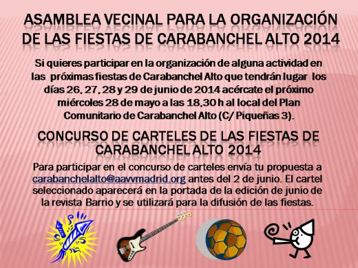 ASAMBLEA VECINAL PARA LA ORGANIZACIÓN DE LAS FIESTAS