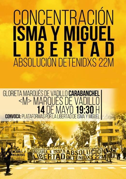 Concentración Isma y Miguel 14 de mayo