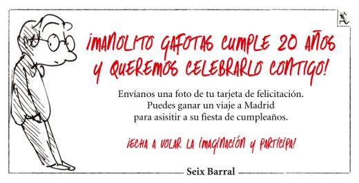 concurso Manolito Gafotas 20 años