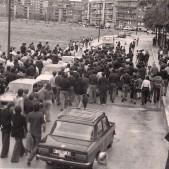 Manifestación en calle Camino de las Cruces (años 70)