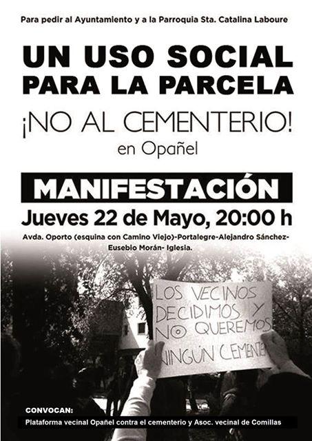 Manifestación Opañel 22 de mayo