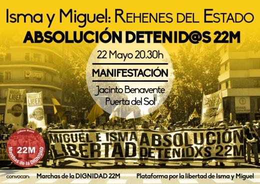 Manifestacion 22 mayo -Ismael Miguel