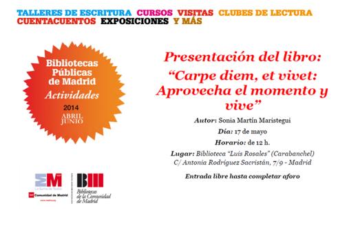 Presentación del libro Carpe diem Biblioteca Luis Rosales