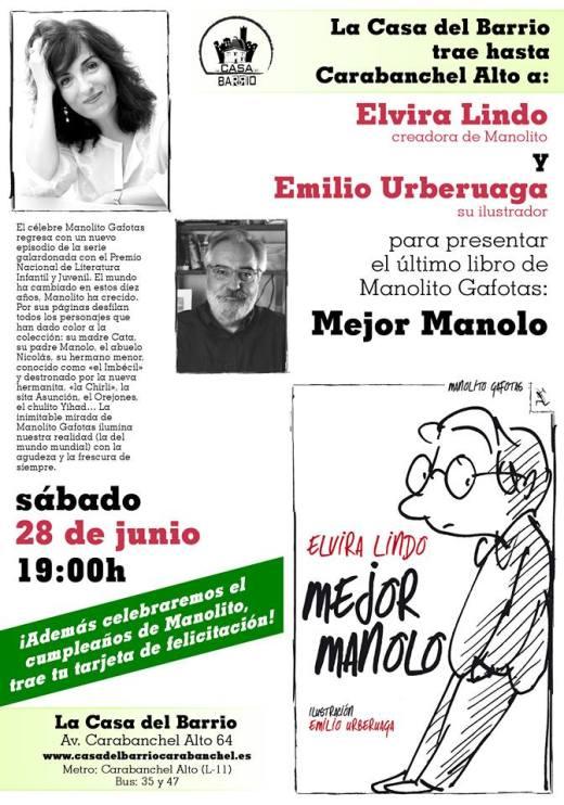 Casa del Barrio Elvira Lindo 20 aniversario Manolito Gafotas