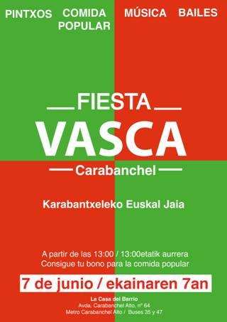 Fiesta Vasca Carabanchel 7 de junio