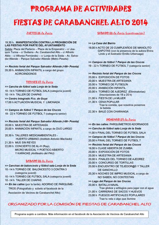 Programa de fiestas A3