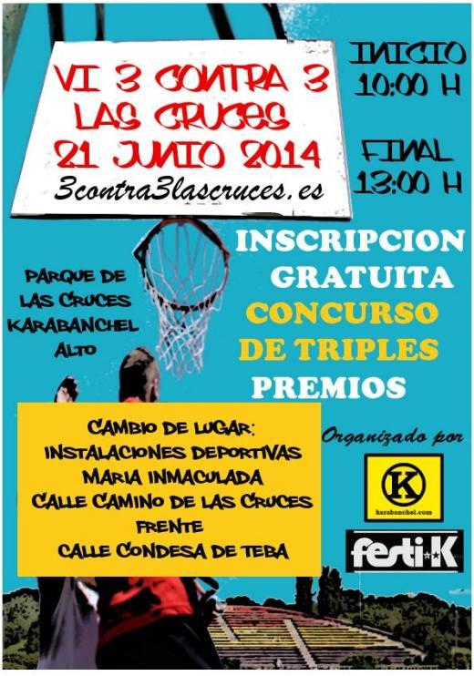 VI Torneo 3 contra 3 Las Cruces Cambio de lugar