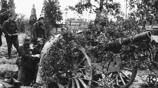 Cañon nacional emplazado en Carabanchel (1936)