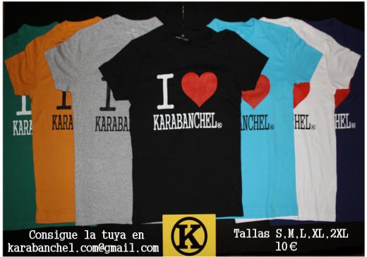 Anuncio Camisetas con manga I love Karabanchel