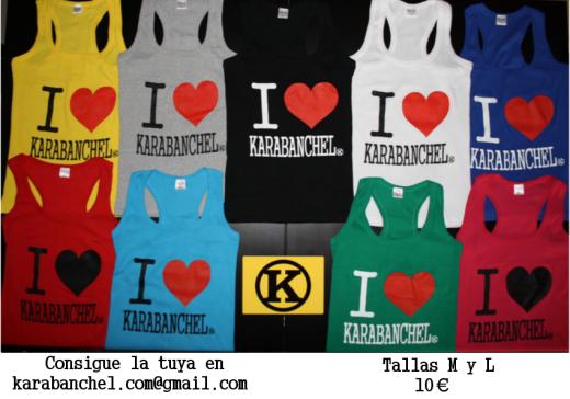 Anuncio Camisetas tirantes I love Karabanchel