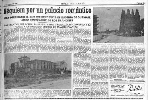 Derribo del Palacio Eugenia de Montijo