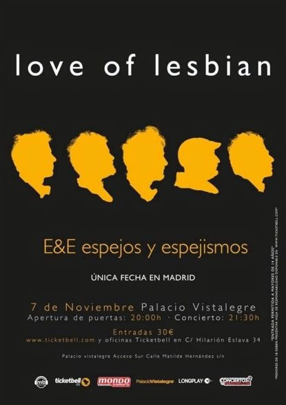 Love of Lesbian Palacio Vistalegre